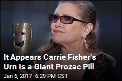 It Appears Carrie Fisher's Urn Is a Giant Prozac Pill