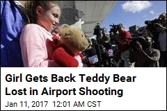 Girl Gets Back Teddy Bear Lost in Airport Shooting