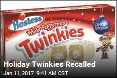 Holiday Twinkies Recalled
