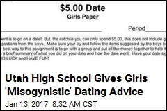 School's Dating Lesson Tells Girls Not to 'Waste His Money'