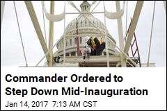 Commander Ordered to Step Down Mid-Inauguration