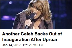 Another Celeb Backs Out of Inauguration After Uproar