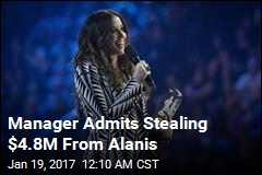 Manager Admits Stealing $4.8M From Alanis