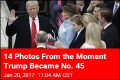 14 Photos From the Moment Trump Became No. 45