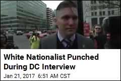 White Nationalist Punched During DC Interview
