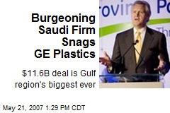 Burgeoning Saudi Firm Snags GE Plastics