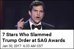 Stars Slam Trump Order at SAG Awards