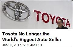 Toyota No Longer the World's Biggest Auto Seller