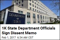 1K State Department Officials Sign Dissent Memo