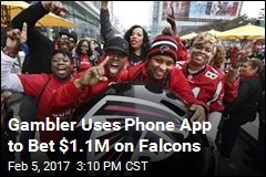Gambler Uses Phone App to Bet $1.1M on Falcons