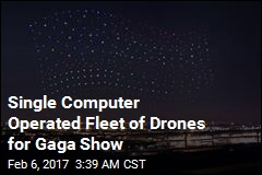 Single Computer Operated Fleet of Drones for Gaga Show