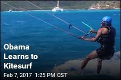 Obama Learns to Kitesurf