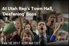 Hundreds Boo Utah Rep at Town Hall