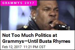Not Too Much Politics at Grammys—Until Busta Rhymes