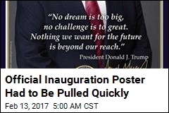 Another Unfortunate Typo, This Time on Inauguration Poster