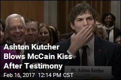 After Emotional Testimony, McCain-Kutcher Bromance Born