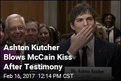After Emotional Testimony, McCain-Kutcher Bromance Born