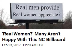 'Real Women?' Many Aren't Happy With This NC Billboard