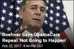 Boehner Says ObamaCare Repeal 'Not Going to Happen'
