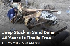 This Is What a Jeep Looks Like After 40 Years in Sand