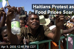 Haitians Protest as Food Prices Soar
