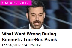 What Went Wrong During Kimmel's Tour-Bus Prank