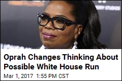 Oprah for President? She's Not Saying No Anymore