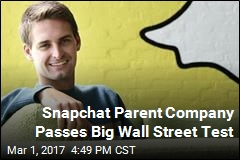 Snapchat Parent Company Passes Big Wall Street Test