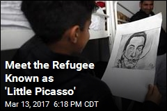 'Little Picasso' Wows in Serbian Refugee Camp