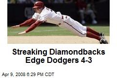 Streaking Diamondbacks Edge Dodgers 4-3