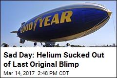 Tears as Last Original Blimp Is Deflated for Good