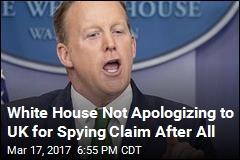 White Denies Apology to Britain Over Spying Claim