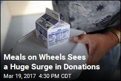 Meals on Wheels Donations Soar Amid Fear of Cuts