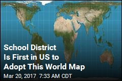 School District Is First in US to Adopt This World Map