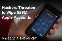 Hackers Threaten to Wipe 559M Apple Accounts