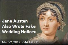 Jane Austen Also Wrote Fake Wedding Notices
