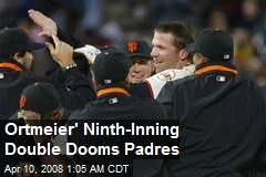 Ortmeier' Ninth-Inning Double Dooms Padres