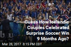 Icelandic Couples Really Celebrated Surprise Soccer Win 9 Months Ago
