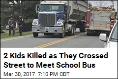 2 Kids Killed as They Crossed Street to Meet School Bus