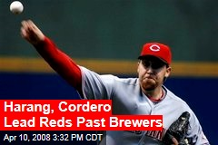 Harang, Cordero Lead Reds Past Brewers