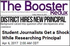 Student Journalists Get a Shock While Researching Principal