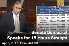 Senate Democrat Speaks for 15 Hours Straight