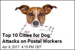 Top 10 Cities for Dog Attacks on Postal Workers