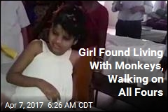Girl Found Living With Monkeys in Indian Forest