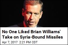 Brian Williams' Unique Take on Syria-Bound Missiles: 'Beautiful'