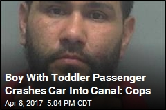 Police: Boy Drives Car Into Canal With Toddler Passenger