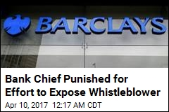 Bank Chief Punished for Effort to Expose Whistleblower