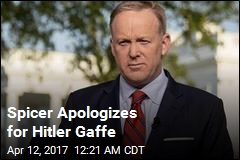 Spicer Sorry for 'Insensitive' Hitler Comparison