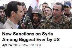 New Sanctions on Syria Among Biggest Ever by US