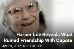 Harper Lee Calls Truman Capote 'Compulsive' Liar